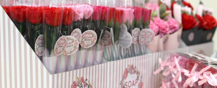 Soap Flowers for Retail